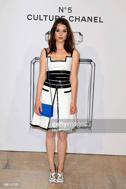 Astrid Berges Frisbey attends the 'No5 Culture Chanel' Exhibition Photocall at Palais De Tokyo on May 3 2013 in Paris France