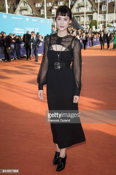 Astrid BergesFrisbey arrives at the closing ceremony of the 43rd Deauville American Film Festival on September 9 2017 in Deauville France