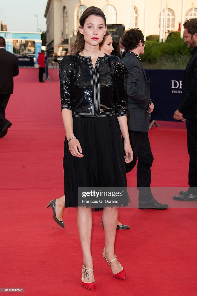 Astrid Berges-Frisbey arrives at the 'Lawless' Premiere during the 38th Deauville American Film Festival on September 5, 2012 in Deauville, France.