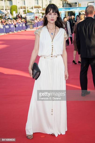 Astrid BergesFrisbey arrives at the opening ceremony of the 43rd Deauville American Film Festival on September 1 2017 in Deauville France