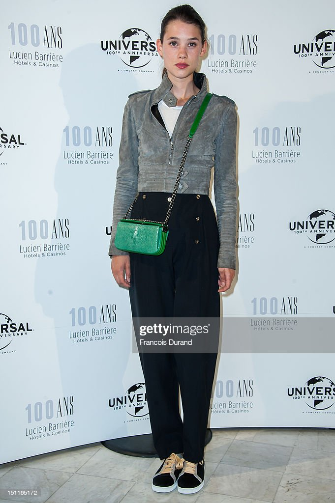 Astrid Berges-Frisbey attends the 100th anniversary of Universal and Lucien Barriere at Royal Barriere hotel during the 38th Deauville American Film Festival on September 1, 2012 in Deauville, France.