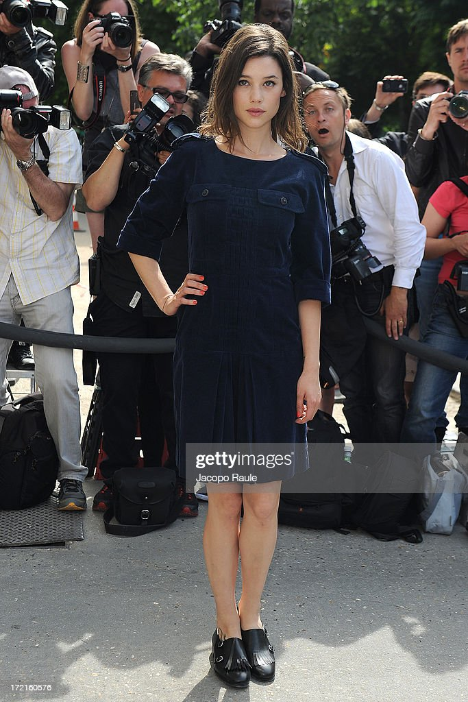 Astrid Berges-Frisbey attends the Chanel show as part of Paris Fashion Week Haute-Couture Fall/Winter 2013-2014 at Grand Palais on July 2, 2013 in Paris, France.