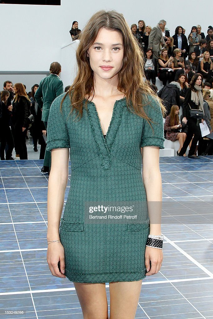 Astrid Berges-Frisbey attends the Chanel Spring / Summer 2013 show as part of Paris Fashion Week at Grand Palais on October 2, 2012 in Paris, France.