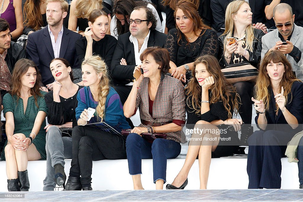 Astrid Berges-Frisbey, Aurelie Dupont, Laura Bailey, Ines de la Fressange, Maiwenn and Lou Doillon attend the Chanel Spring / Summer 2013 show as part of Paris Fashion Week at Grand Palais on October 2, 2012 in Paris, France.
