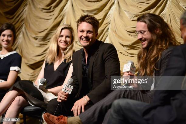 Astrid BergesFrisbey Brit Marling Michael Pitt and Mike Cahill attend the Film Independent at LACMA presents a special screening and QA of 'I...