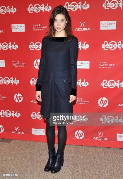 Astrid BergèsFrisbey attends the premiere of 'I Origins' at the Eccles Center Theatre during the 2014 Sundance Film Festival on January 18 2014 in...