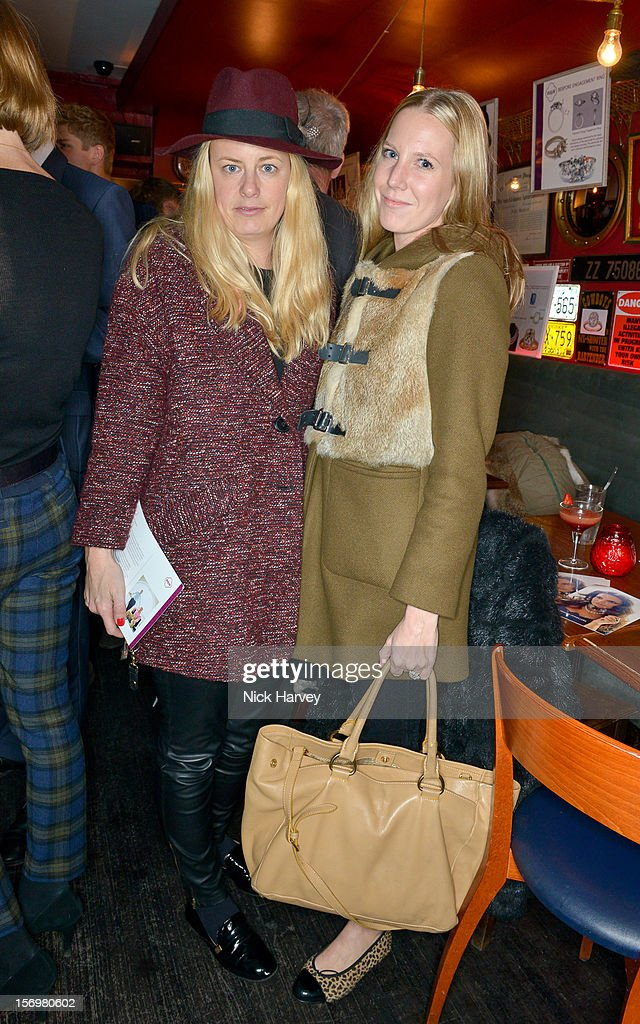 Astrid Harbord and Alice Naylor-Leyland attend a party to celebrate the best of W&W Jewellery at Barts bar on November 26, 2012 in London, England.