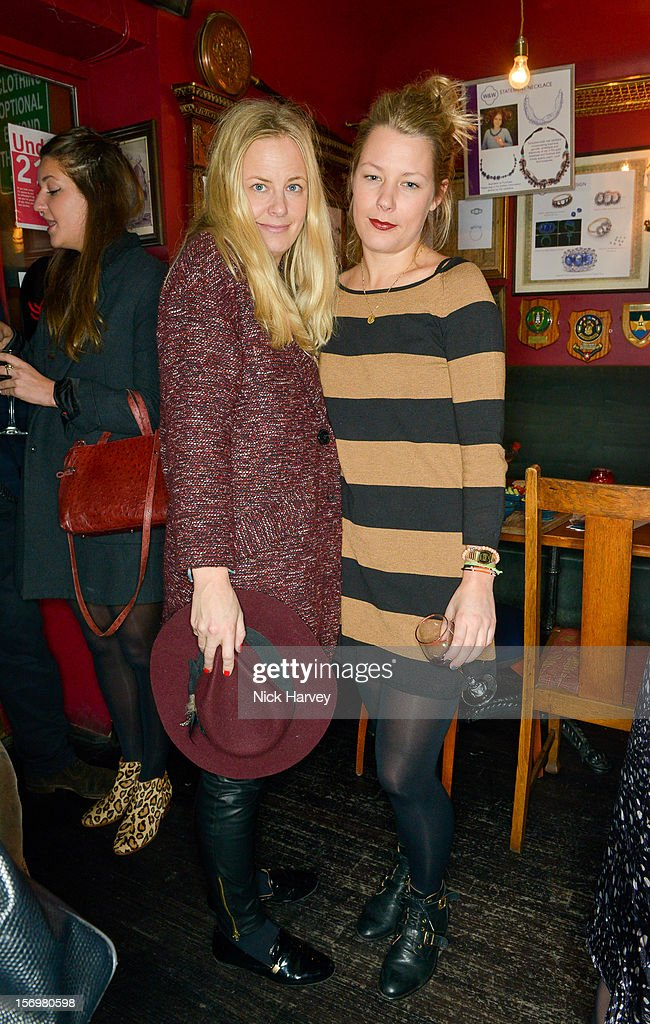 Astrid Harbord and Davina Harbord attend a party to celebrate the best of W&W Jewellery at Barts bar on November 26, 2012 in London, England.