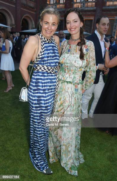 Astrid Harbord and Yana Max attend the 2017 annual VA Summer Party in partnership with Harrods at the Victoria and Albert Museum on June 21 2017 in...