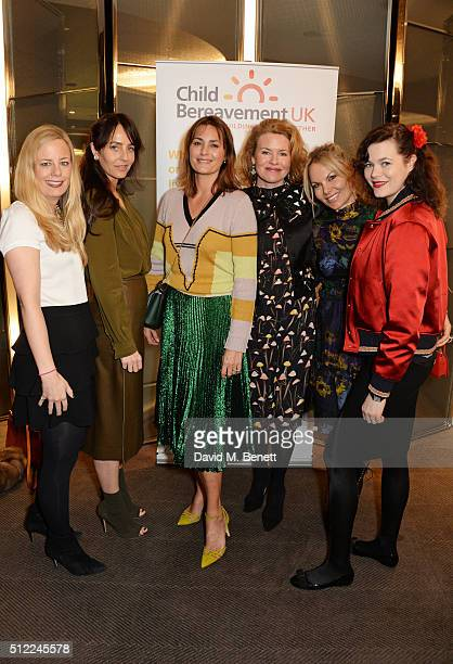 Astrid Harbord Julie Brangstrup Yasmin Le Bon Erin Morris Gina Levett and Jasmine Guinness attend a Ladies' Winter Lunch in aid of Child Bereavement...