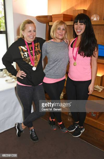 Astrid Harbord Mika Simmons and Melissa Hemsley attend the Lady Garden brunch following the 5K 10K Fun Run in aid of Silent No More Gynaecological...