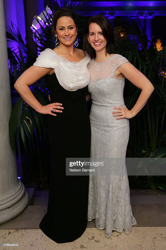 Astrid Hill Dattilo (L) attends the Young Fellows Celestial Ball presented by PAULE KA at The Frick Collection on March 13, 2014 in New York City.