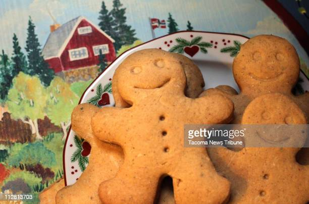 Astrid Karlsen Scott of Olympia Washington bakes traditional Norwegian Christmas cookies including pepper cookies also called gingerbread cookies