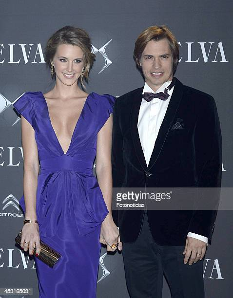 Astrid Klisans and Carlos Baute attend Telva Fashion Awards at the Palacio de Cibeles on December 2 2013 in Madrid Spain