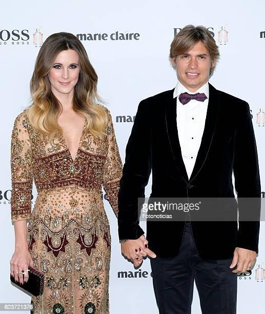 Astrid Klisans and Carlos Baute attend the 'Marie Claire Prix De La Moda' awards at Florida Retiro on November 16 2016 in Madrid Spain