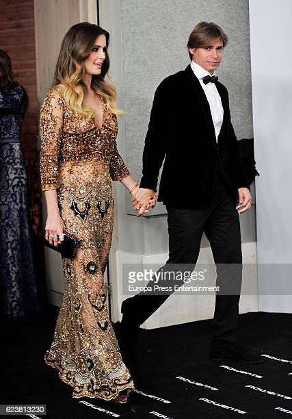 Astrid Klisans and Carlos Baute attend the XIV Marie Claire Prix de la Moda Awards at Florida Retiro on November 16 2016 in Madrid Spain