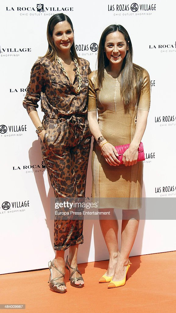 Astrid Munoz and Tamara Falco attend 'Chic Goes Wild Sensorial Space' presentation on April 10 2014 in Madrid Spain