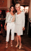 Astrid Munoz and Vanessa Bruno attend the 4th anniversary of Tate Young Patrons sponsored by Vanessa Bruno on June 8 2011 in London England