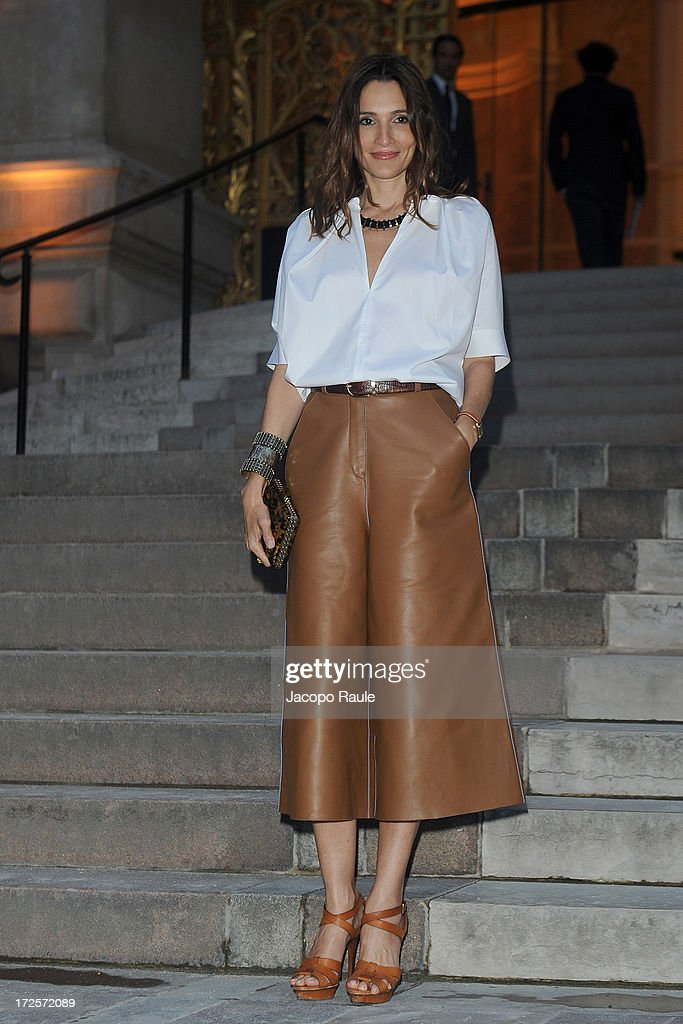 Astrid Munoz arrives at 'The Glory Of Water' : Karl Lagerfeld's Exhibition Dinner at Fendi on July 3, 2013 in Paris, France.