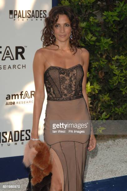 Astrid Munoz arrives at the traditional charity gala during the Cannes Film Festival in Mougins France The gala benefits the amfAR Aids foundation