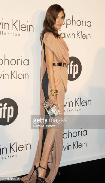 Astrid Munoz attends as The IFP Calvin Klein Collection euphoria Calvin Klein celebrate Women In Film during the 65th Cannes Film Festival at Villa...