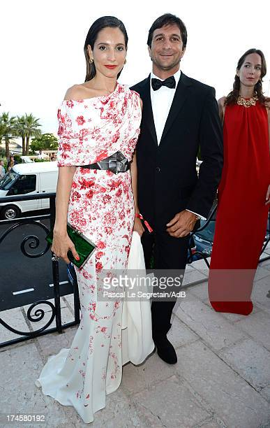 Astrid Munoz attends the cocktail at the 'Love Ball' hosted by Natalia Vodianova in support of The Naked Heart Foundation at Opera Garnier on July 27...