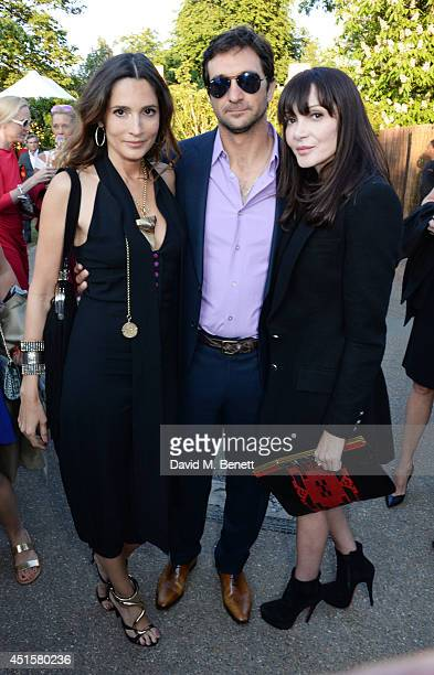 Astrid Munoz Eduardo Novillo Astrada and Annabelle Neilson attend The Serpentine Gallery Summer Party cohosted by Brioni at The Serpentine Gallery on...