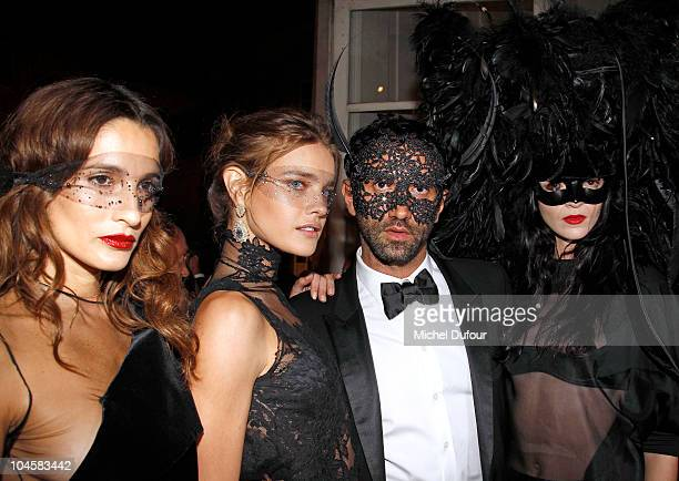 Astrid Munoz Natalia Vodianova Riccardo Tisci and Maria Carla attend Vogue 90th Anniversary Party as part of Ready to Wear Spring/Summer 2011 Paris...