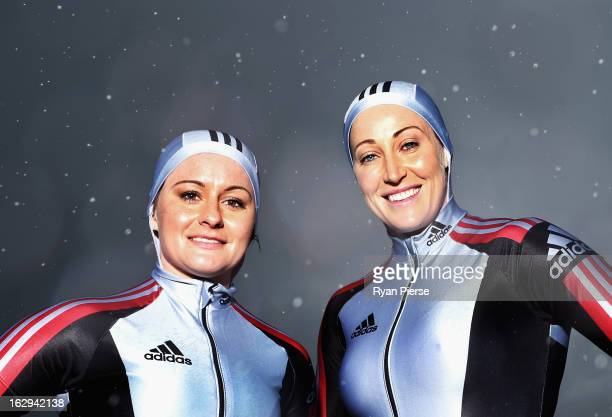 Astrid Radjenovic and Jana Pittman pose during a Australian Women's Bobsleigh Team Portrait Session on March 2 2013 in Sydney Australia Pittman a...