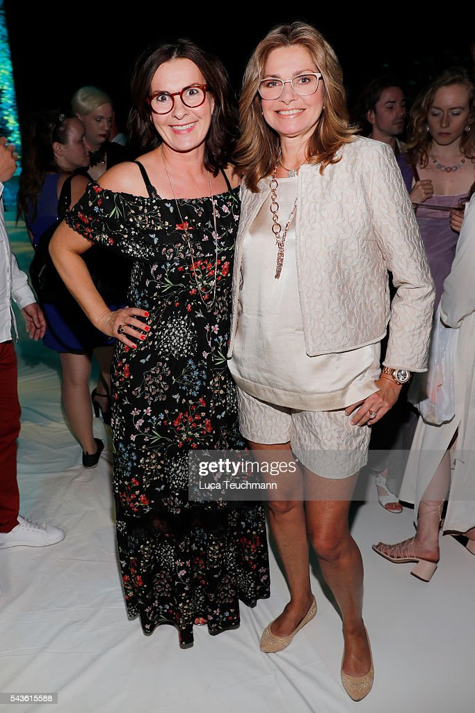 Astrid Rudolph (L) and <a gi-track='captionPersonalityLinkClicked' href=/galleries/search?phrase=Maren+Gilzer&family=editorial&specificpeople=242887 ng-click='$event.stopPropagation()'>Maren Gilzer</a> attend the Rebekka Ruetz show during the Mercedes-Benz Fashion Week Berlin Spring/Summer 2017 at Erika Hess Eisstadion on June 29, 2016 in Berlin, Germany.