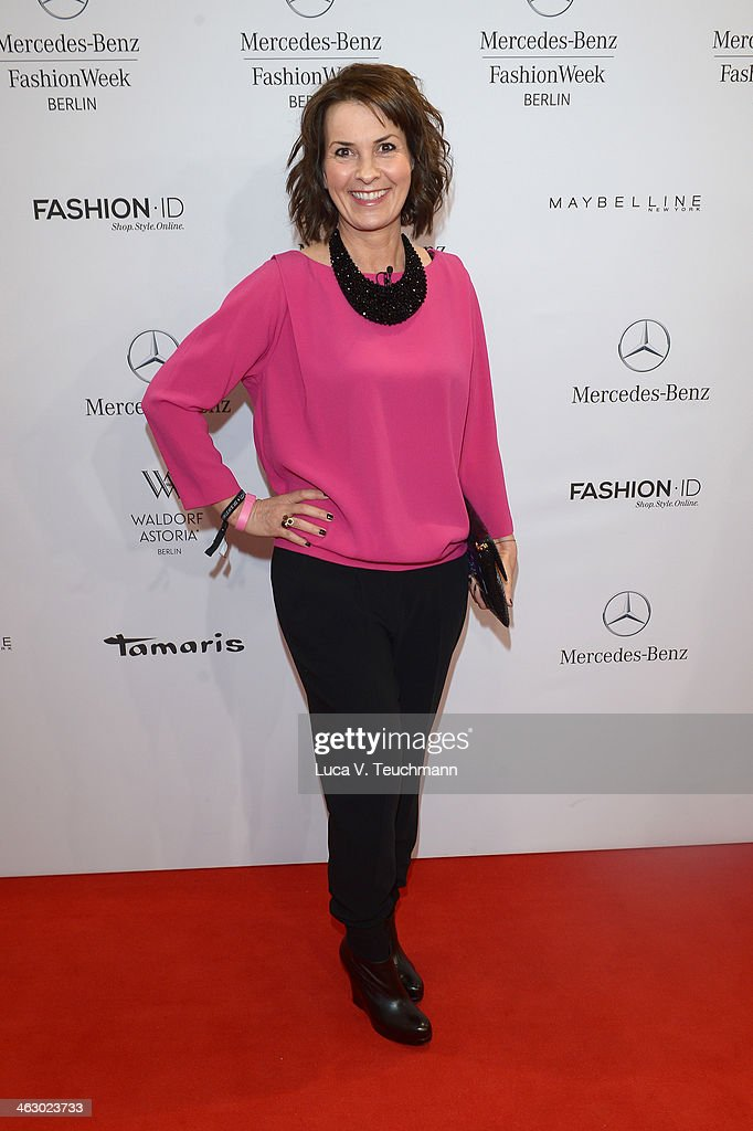 Astrid Rudolph attends the Laurel show during Mercedes-Benz Fashion Week Autumn/Winter 2014/15 at Brandenburg Gate on January 16, 2014 in Berlin, Germany.