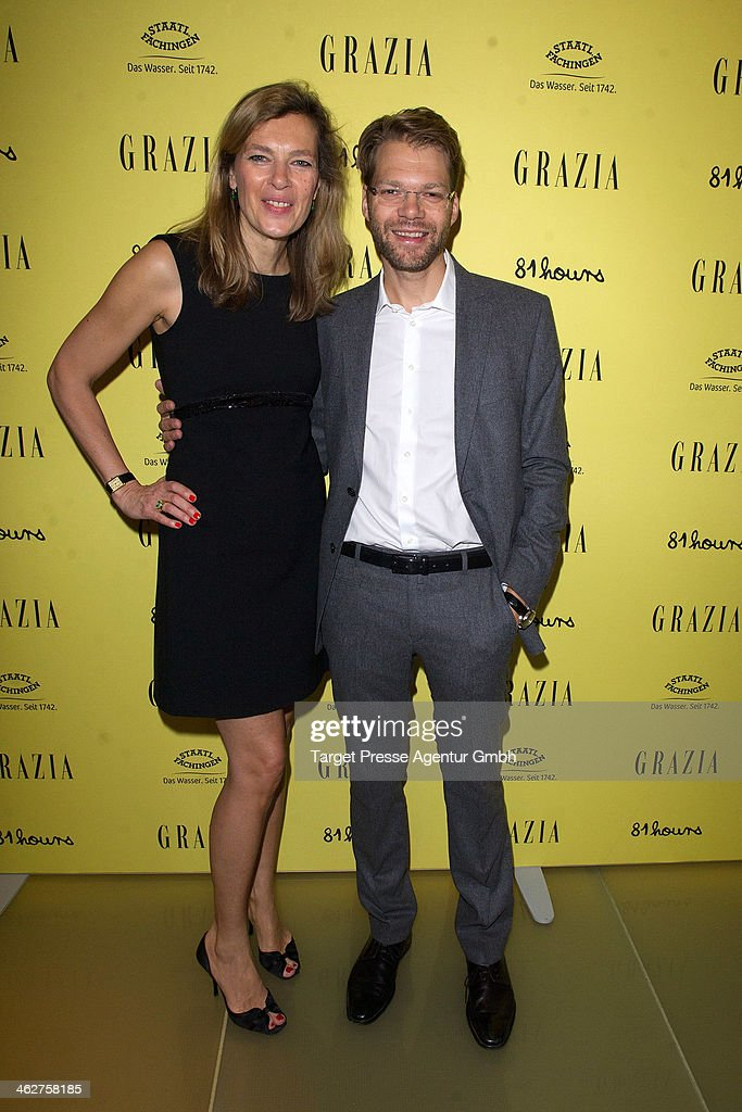 Astrid Sass and Kai Rose attend the Grazia Pop Up during Mercedes-Benz Fashion Week Autumn/Winter 2014/15 at Sra Bua Restaurant on January 15, 2014 in Berlin, Germany.