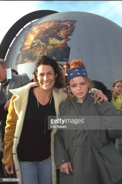 Astrid Veillon actress with her goddaughter