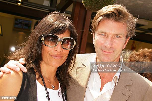 Astrid Veillon and Philippe Caroit at Roland Garros Village
