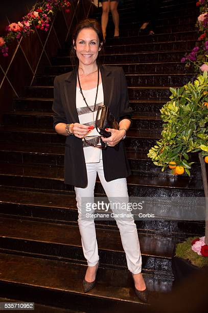 Astrid Veillon attends 'Les P'tits Cracks' Charity Dinner At Pavillon des Champs Elysees in Paris