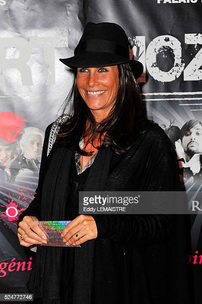 Astrid Veillon attends the premiere of 'Mozart l'Opera Rock' in Paris