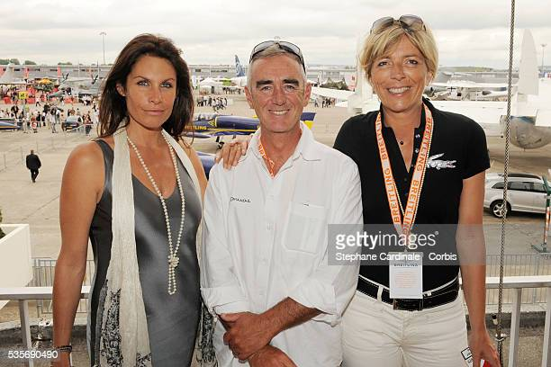 Astrid Veillon Loic Peyron and Rejane Lacoste attend the Breitling lunch during the 48th Paris Air Show held at Paris Le Bourget