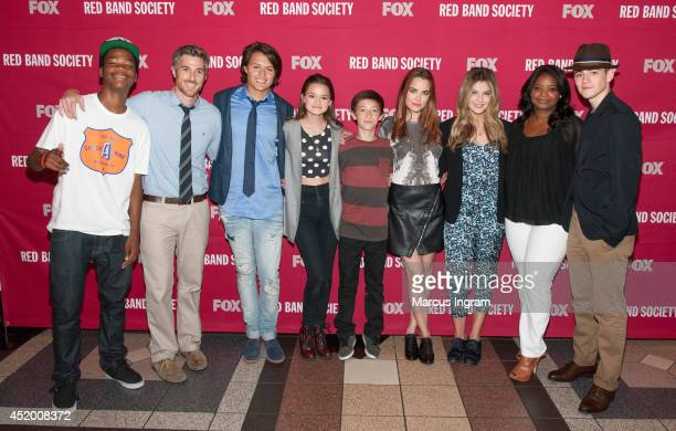 Astro Dave Annable Nolan Sotillo Ciara Bravo Griffin Gluck Rebecca Rittenhouse Zoe Levin Octavia Spencer and Charlie Rowe attend the 'Red Band...