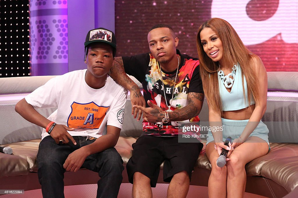 Astro Kid (L) with hosts <a gi-track='captionPersonalityLinkClicked' href=/galleries/search?phrase=Bow+Wow+-+Rapper&family=editorial&specificpeople=211211 ng-click='$event.stopPropagation()'>Bow Wow</a> and Keshia Chante at BET's 106 & Park at BET studios on July 1, 2014 in New York City.