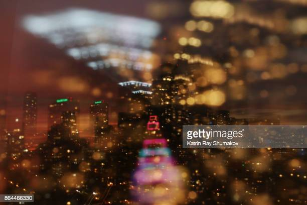 Astro Projection. Cityscapes of Vibrant Night Dimensions