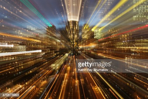 Astro Projection. Trans-Warp Technology : Stock Photo