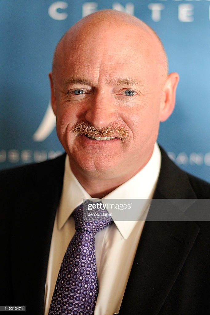 Astronaught <a gi-track='captionPersonalityLinkClicked' href=/galleries/search?phrase=Mark+Kelly+-+Astronaut+and+Gun+Control+Advocate&family=editorial&specificpeople=566699 ng-click='$event.stopPropagation()'>Mark Kelly</a> arrives at Simon Wiesenthal Center's Annual National Tribute Dinner Honoring Jerry Bruckheimer, in The Beverly Hills Hilton, on May 23, 2012 in Beverly Hills, California.