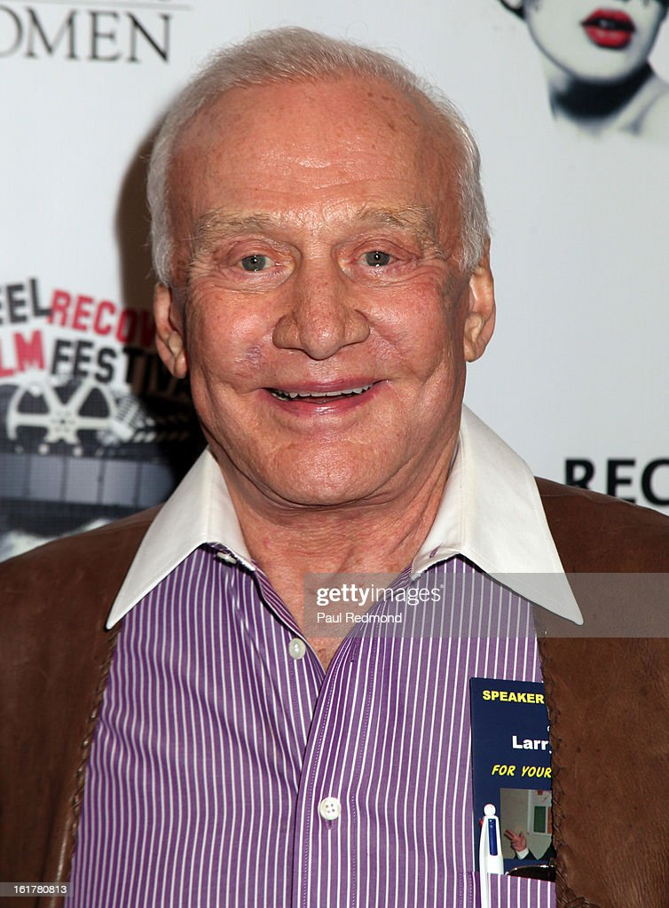 Astronaut Buzz Aldrin arrives at Writers In Treatment's 4th Annual Experience, Strength And Hope Awards at Skirball Cultural Center on February 15, 2013 in Los Angeles, California.