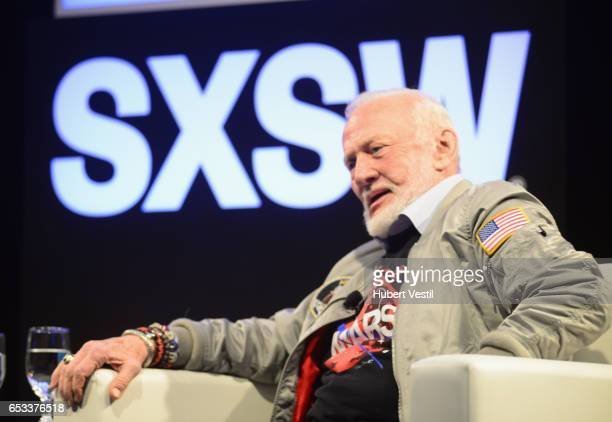 Astronaut Buzz Aldrin speaks onstage at 'A Conversation With Buzz Aldrin and Jeff Kluger' during 2017 SXSW Conference and Festivals on March 14 2017...