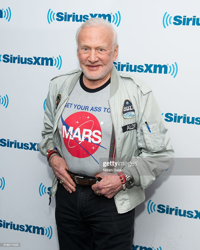 Astronaut <a gi-track='captionPersonalityLinkClicked' href=/galleries/search?phrase=Buzz+Aldrin&family=editorial&specificpeople=90480 ng-click='$event.stopPropagation()'>Buzz Aldrin</a> visits the SiriusXM Studios on April 6, 2016 in New York City.