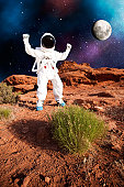 Astronaut Discovers Plant Life on Alien Planet