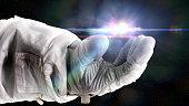 futuristic space scene