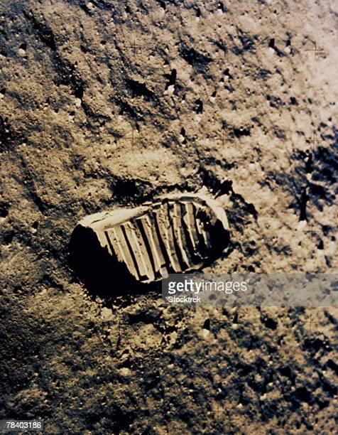 Astronaut footprint on the moon