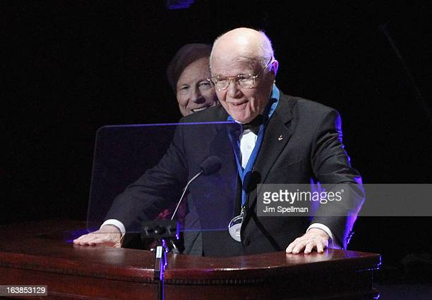 Astronaut/ Former United States Senator John Glenn attends the 109th Explorers Club Annual Dinner at The Waldorf=Astoria on March 16 2013 in New York...