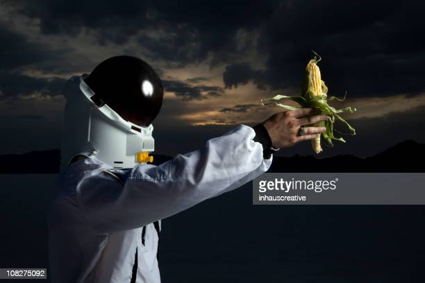 Astronaut Holding Corn The Future Of Ethanol